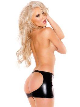Lesklá minisukně s odhaleným zadečkem Kissable Kitten – Dámské sexy sukně a minisukně