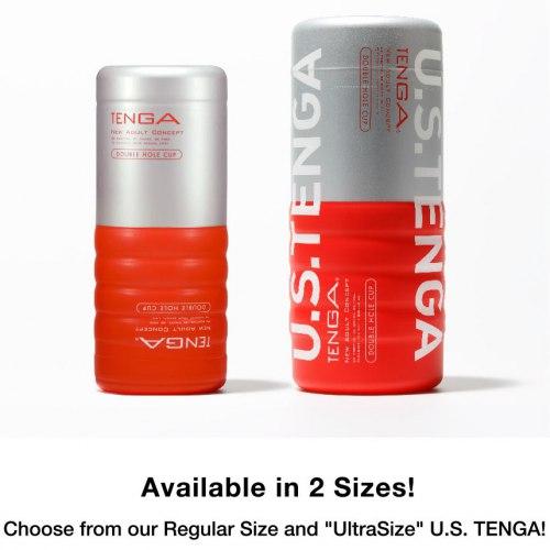 Oboustranný masturbátor U.S. TENGA Double Hole CUP XXL
