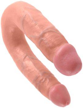 Dvojité realistické dildo King Cock Medium Double Trouble – Oboustranná a dvojitá dilda