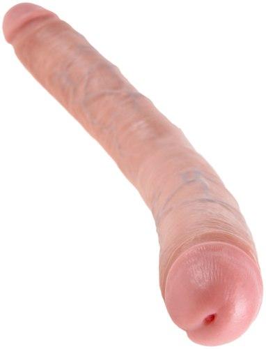 "Oboustranné realistické dildo King Cock Thick Double 16"""