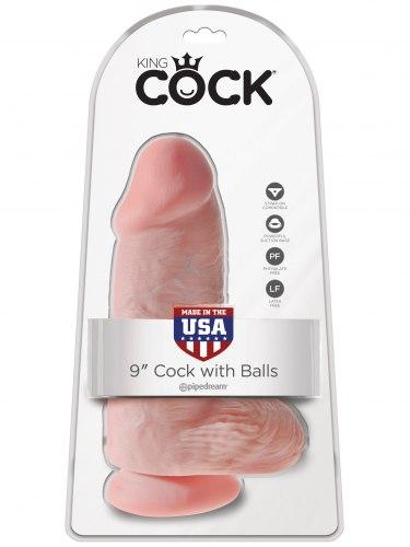"Realistické dildo s varlaty King Cock 9"" Chubby"