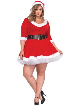 Luxusní kostým Mrs. Claus – Dámské kostýmy na roleplay