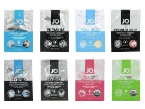 Degustační balíček lubrikačních gelů System JO – Výhodná balení erotických pomůcek a doplňků