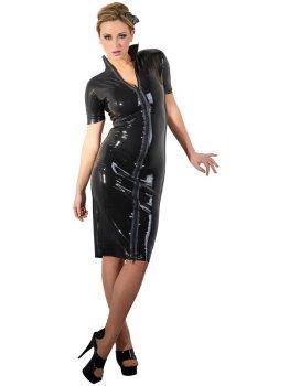 Latexové šaty s dlouhým dvoucestným zipem – Latexové oblečení pro ženy