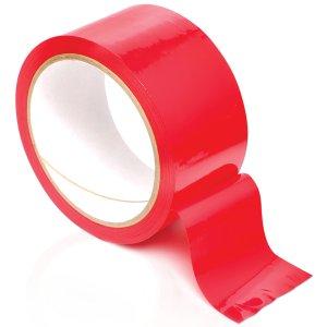 Páska na bondage Pleasure Tape, červená – Pomůcky pro úchvatnou bondage (svazování)