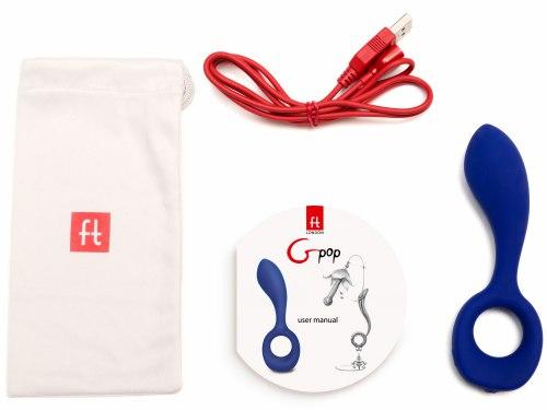 Nabíjecí stimulátor prostaty i bodu G Gpop Blue