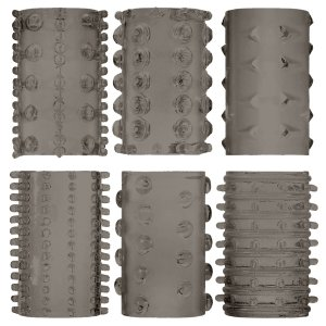 Super-elastické návleky na penis - kouřově šedé – Návleky na penis