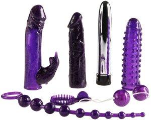 Nádherná sada erotických pomůcek Imperial Rabbit Kit Dark Purple – Sady erotických pomůcek