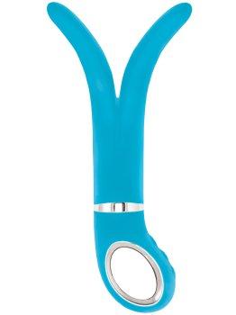 Luxusní dvojitý vibrátor Gvibe 2 Blue Lagoon – Dvojité a trojité vibrátory
