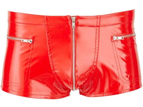 Červené lakované boxerky