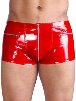 Červené lakované boxerky – Lakované prádlo pro muže (vinyl)