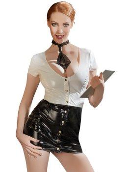 Lakovaný kostým Sekretářka – Dámské lakované oblečení (vinyl)