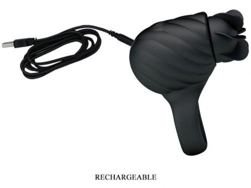 Nabíjecí erekční kroužek s rotačním stimulátorem Frances