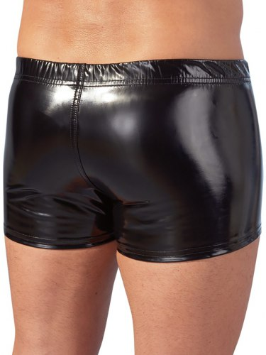Lakované boxerky se zipem
