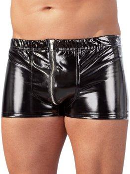 Lakované boxerky se zipem – Lakované prádlo pro muže (vinyl)