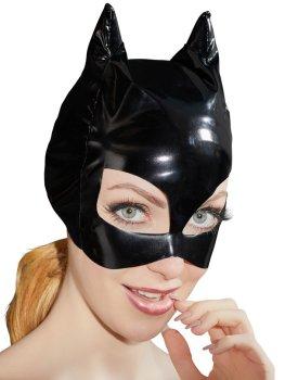 Lakovaná maska s kočičíma ušima – Dámské lakované oblečení (vinyl)