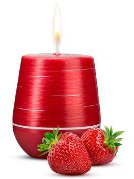 Afrodiziakální vonná svíčka Sweet Strawberries – Vzrušující, zábavné a sexy doplňky do domácnosti