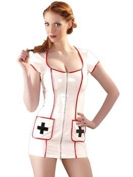 Lakovaný kostým Zdravotní sestra – Dámské lakované oblečení (vinyl)