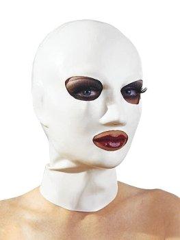 Latexová maska - bílá, unisex – Masky, kukly a šátky