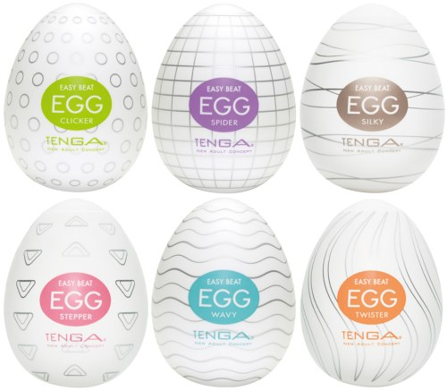 Výhodné balení masturbátorů TENGA Egg, 6 ks