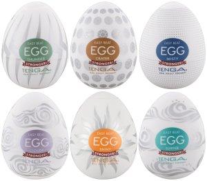 Výhodné balení masturbátorů TENGA Egg Stronger, 6 ks – Masturbátory a honítka TENGA