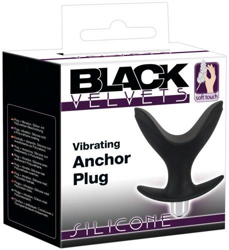 Roztahovací vibrační anální kolík Black Velvets