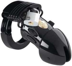 Klícka na penis Pubic Enemy No 1 Black Edition (elektrosex) – Klece na penis a pásy cudnosti pro elektrosex