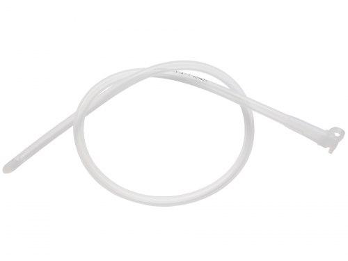 Transparentní silikonový katétr se zátkou - na cévkování
