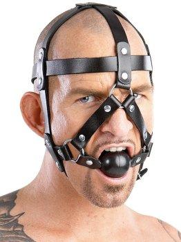 Postroj na hlavu s roubíkem – BDSM postroje a fetiš oblečení