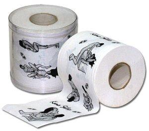 Toaletní papír Kámasútra – Vzrušující, zábavné a sexy doplňky do domácnosti