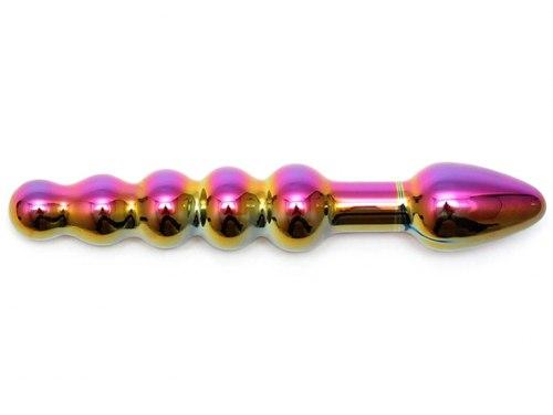 Luxusní skleněné dildo/anální kuličky Laila