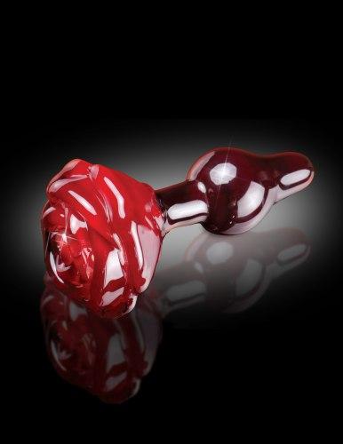 Skleněný anální kolík s růžičkou ICICLES No. 76