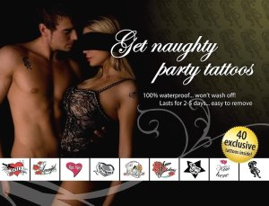 Tetování Get Naugty Party – Dočasná vzrušující tetování