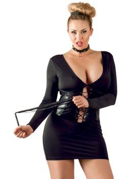 Minišaty se šněrováním a dlouhými rukávy – Dámské sexy šaty a minišaty