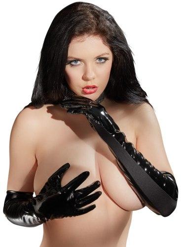 Lakované rukavice (s elastickými vsadkami)