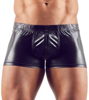 Lesklé boxerky s odnímatelným kovovým erekčním kroužkem – Pánské boxerky, slipy, tanga a jocksy