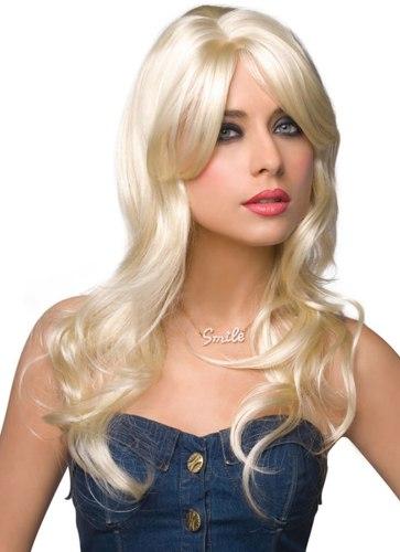 Paruka Jessie - dlouhá, platinová blond
