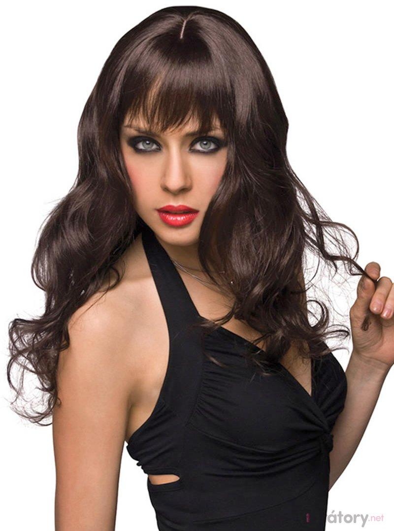 Pleasure Wigs Paruka Joey - dlouhá, tmavě hnědá
