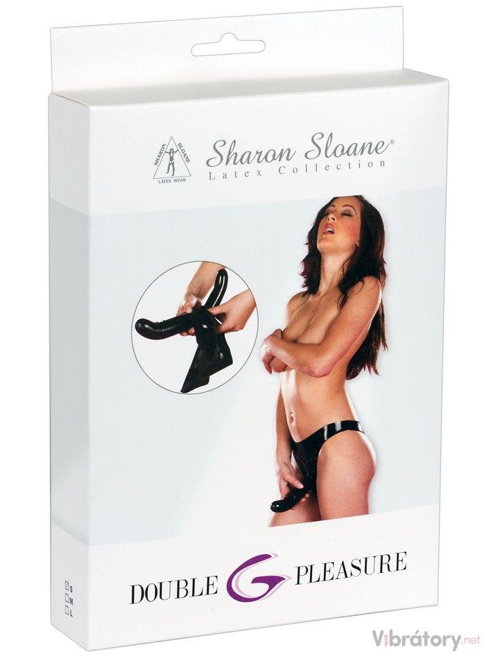 fe60f8cfc82 Latexové kalhotky s vnitřním a vnějším dildem Sharon Sloane