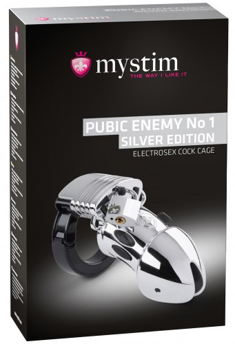 Klícka na penis Pubic Enemy No 1 Silver Edition (elektrosex)