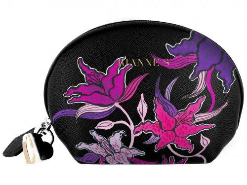 Minivibrátor na bod G Floral Deep Purple (se stylovou taštičkou)