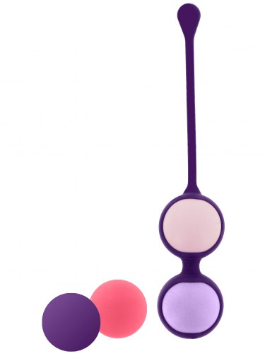 Vaginální činka s vyměnitelnými kuličkami Pussy Playballs (s taštičkou)