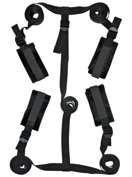 Sada čtyř pout s popruhy na postel S&M Sportsheets – Pomůcky pro úchvatnou bondage (svazování)