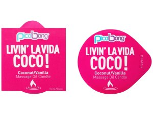 Masážní svíčka PicoBong Coconut & Vanilla – Svíčky pro uvolňující i erotickou masáž
