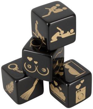 Erotické hrací kostky, 4 ks – Vzrušující erotické hry