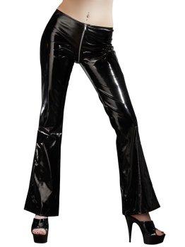 Lakované kalhoty s dvoucestným zipem – Dámské kalhoty a legíny