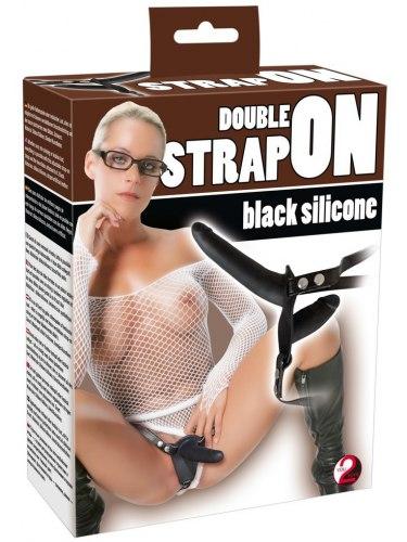 Silikonový dvojitý strap-on