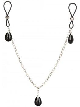Šperk na bradavky s řetízkem ONYX – Ozdoby na bradavky