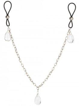 Šperk na bradavky s řetízkem CRYSTAL – Ozdoby na bradavky