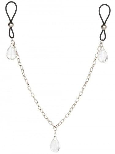 Šperk na bradavky s řetízkem CRYSTAL